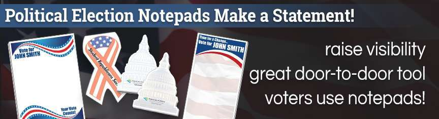 Political Election Notepads
