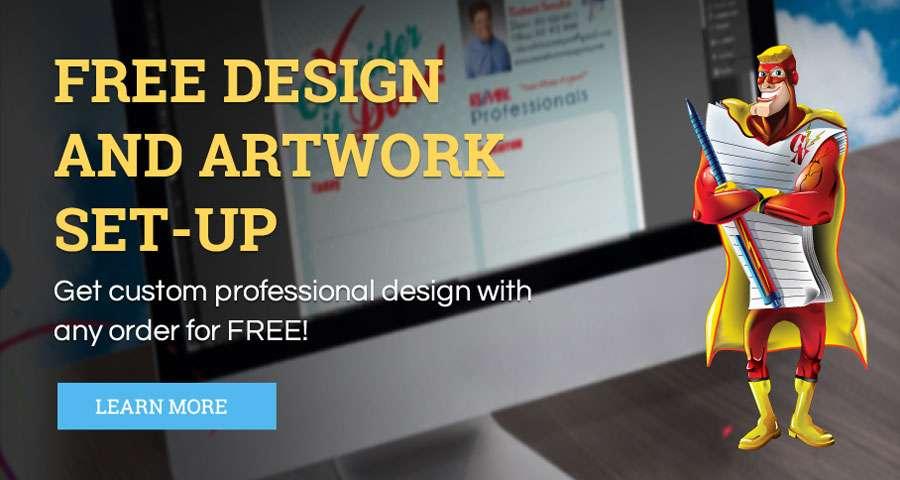 Free Design and Artwork Set-up